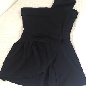 J.W. Anderson Tops - J.W Anderson black one shoulder crepe blouse